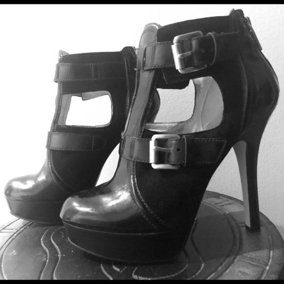 MICHAEL KORS platform ankle strap booties
